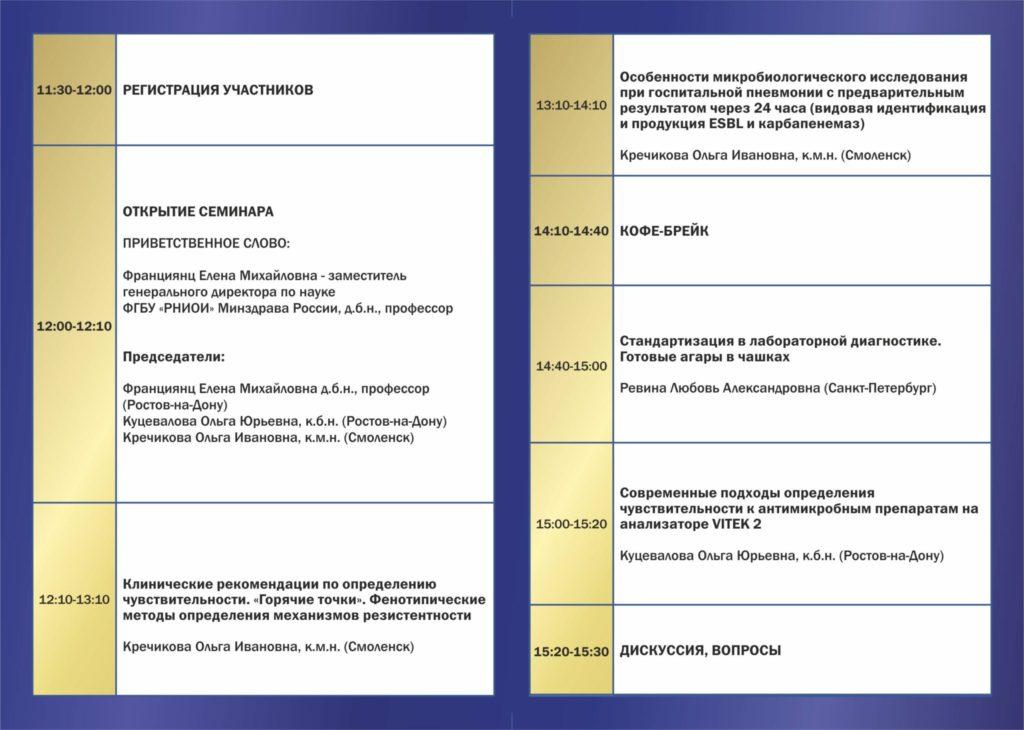 Актуальные вопросы практического микробиолога, Ростов, 5 декабря 2017 г.